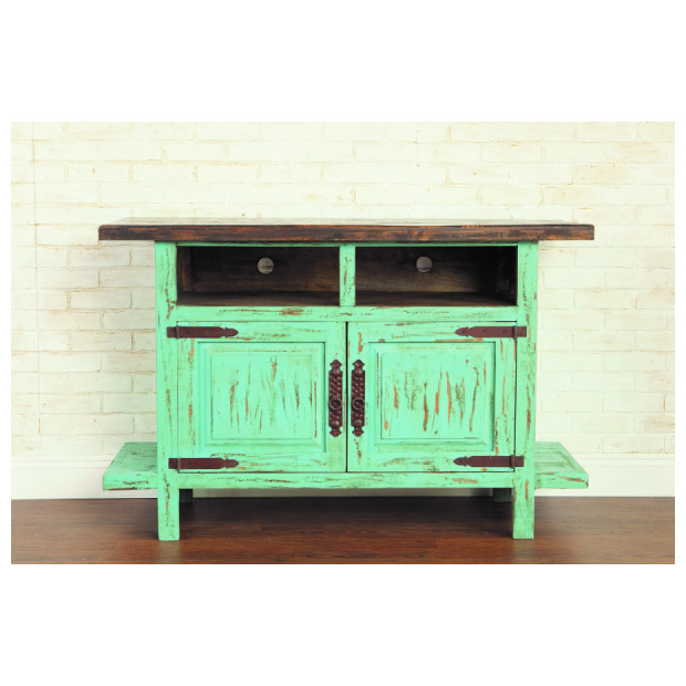 Fitzgerald Furniture CL RUSTIC 60 TV STAND TURQUOISE