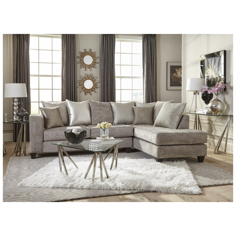 Fitzgerald Furniture CL HEARTH CEMENT 2PC SECTIONAL