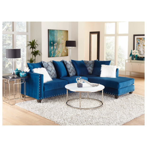 Fitzgerald Furniture SAPPHIRE BLUE 2PC SECTIONAL