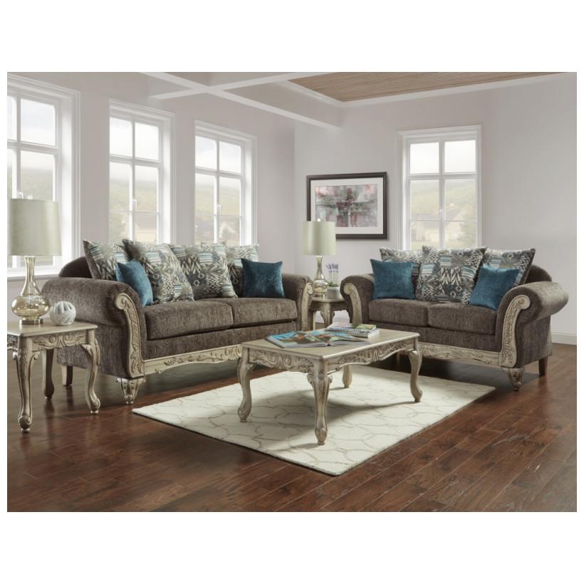 Fitzgerald Furniture CL CARSON GRAY S/L