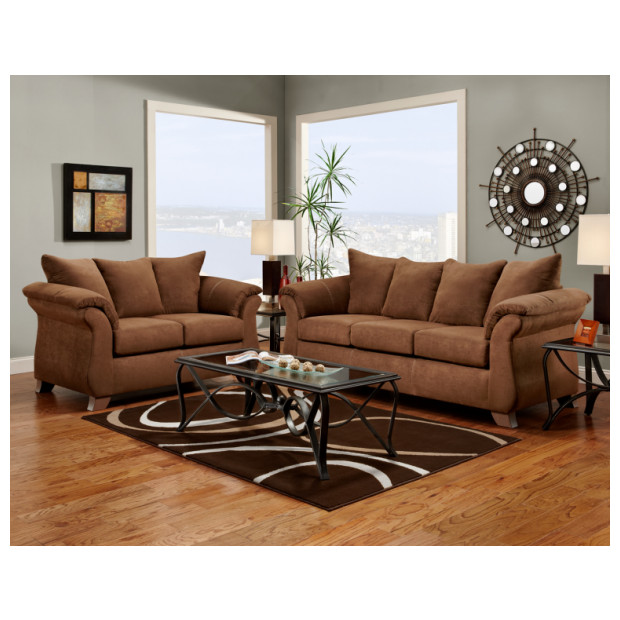 Affordable Furniture A6702/6703 CHOCOLATE