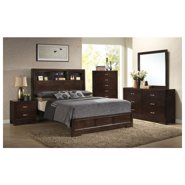 Fitzgerald Furniture CL CALAIS WALNUT QBDMN