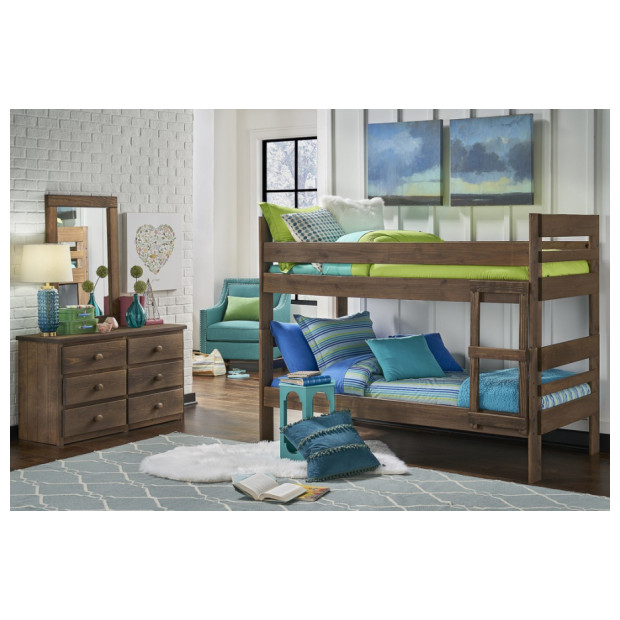 Simply Bunk Beds 6087B/115X2 CHESTNUT