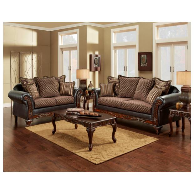 Fitzgerald Furniture CL SIENNA BROWN S/L