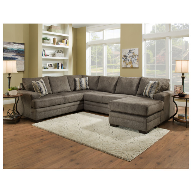 Fitzgerald Furniture CL CORNELL PEWTER 3PC SECTIONAL