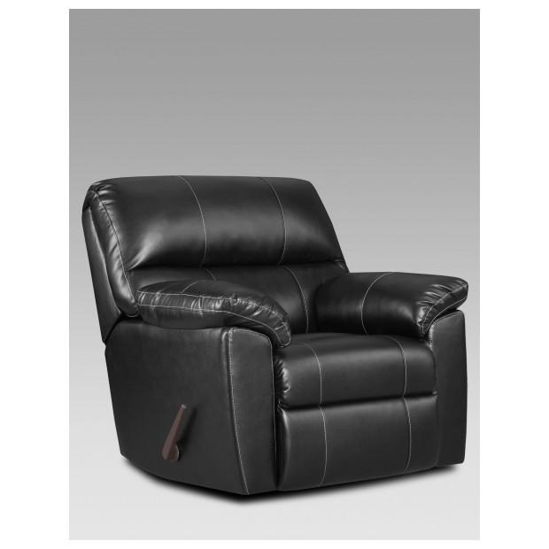 Fitzgerald Furniture CL AUSTIN BLACK RECLINER