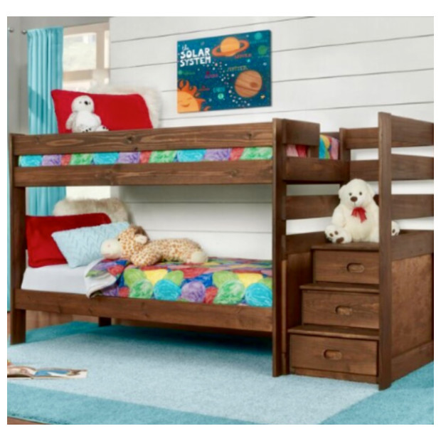 Simply Bunk Beds 6087B/117RX2 CHESTNUT