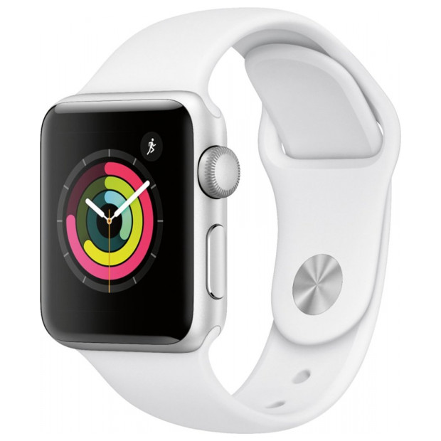 Apple Inc.  SERIES 3 38MM SILVER ALUMINUM