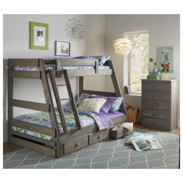 Simply Bunk Beds 209B/117R/118R DRIFTWOOD