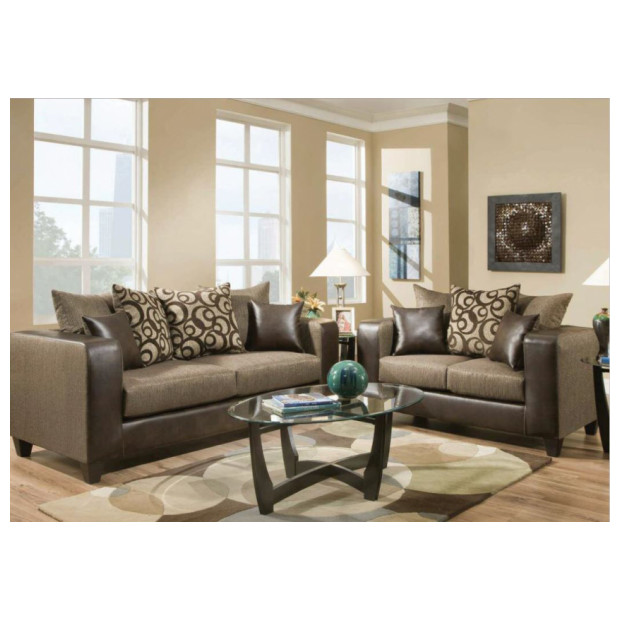 Fitzgerald Furniture CL EMBOSS ESRESSO S/L